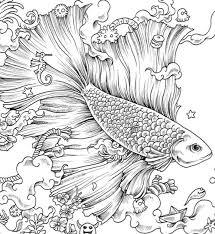 Coloring Books Free Anti Stress Zentangle Therapy Fish