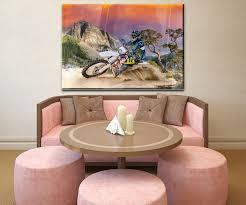 wandbild enduro motorbike racing wand bilder dekoration wohnung modern wanddeko groß für wohnzimmer wb0686