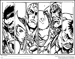 Perfect Avengers Coloring Page 66 For Your Site With