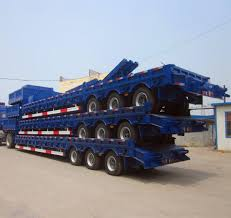 100 Car Carrier Trucks For Sale Tongya Brand Triaxle Extendable Low Bed Truck Semi Trailer