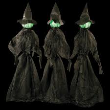 Halloween Witch Yard Stakes by Glowing Face Witch Décor Set Glowing Face Witches And Outdoor