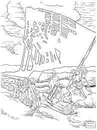 Coloring Pages Noah Building Ark Noahs Christianity Bible