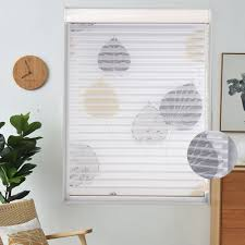 fashionable white shangri la roller blinds view through dimmable light for office bedroom living room customized size
