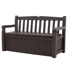 Outdoor Garden Patio Deck Box Storage Bench in Brown The Home Depot