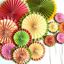 Popur Starburst Fan Assorted Flowers For Paper Wedding Wall Decorations