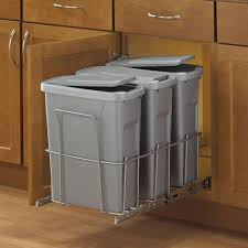 Under Cabinet Trash Can Pull Out by Real Solutions For Real Life 18 In H X 14 In W X 23 In D Steel