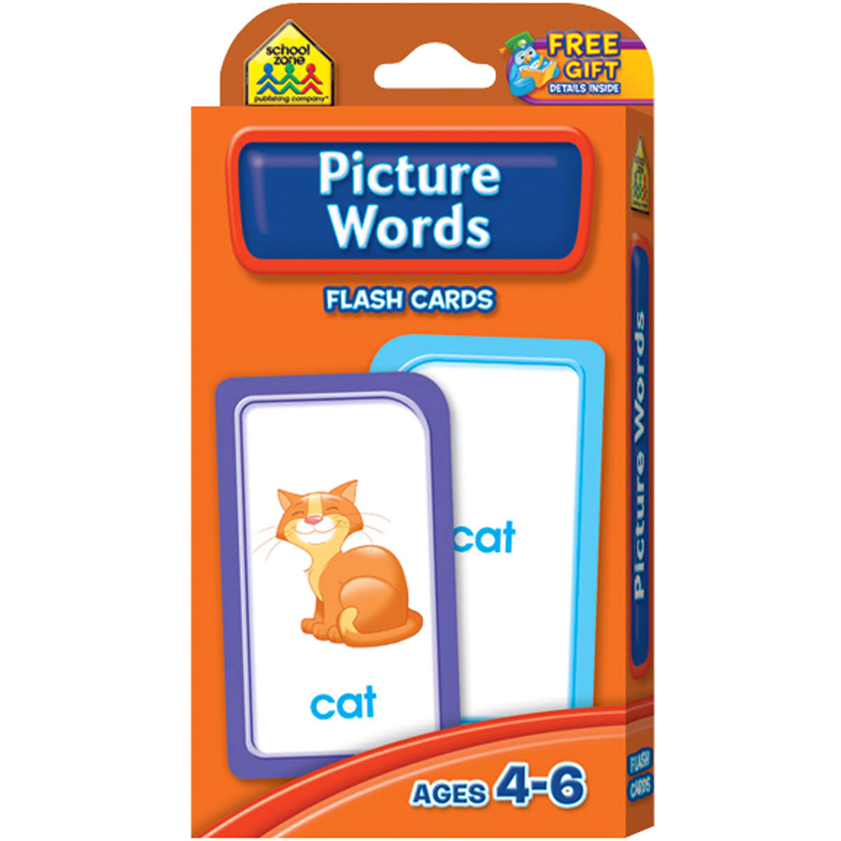 Picture Words Flash Cards - Ages 4-6