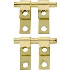 brass plated mirror support set