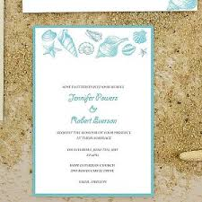Cheap Starfish And Seashell Beach Wedding Invitations EWI386
