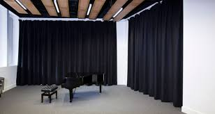 acoustic curtains sound absorbing maple