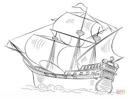 Click The Spanish Galleon Coloring Pages