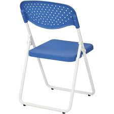 100 Blue Plastic Folding Chairs Set Of 4 Work Smart Chair FC8000NW7 BestChiavaricom