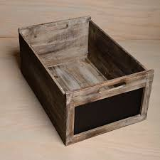 Wooden Chalkboard Crates In Assorted Sizes