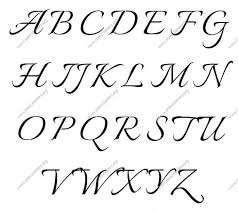 Template Calligraphy Template Stencils Fancy Alphabet Letters