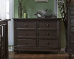 Baby Cache Heritage Double Dresser by Pali Cortina Forever Crib White Grey