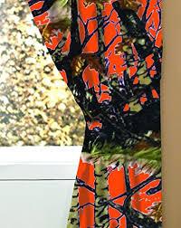 "The Woods"" Camo Curtain Panel & Tie Back Set Orange – Fire Fly Camo"