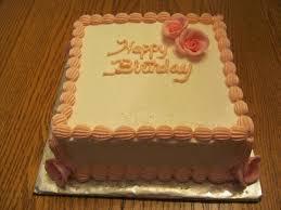 Square Birthday Cake on Cake Central