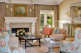 coral color palette fashion santa barbara style living room