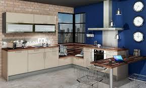 cuisine beige cuisine vitaminée glossy glam beige bleu 2v idée de décoration