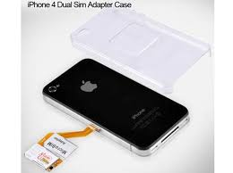 iPhone 4 Dual SIM Card Adapter Case With Back Cover For $28 99