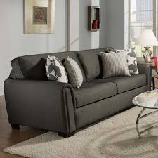 Used Tempurpedic Sleeper Sofa by Contemporary Stationary Sleeper Sofa With Tapered Roll Arms By