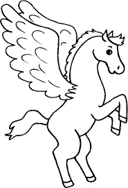 Unicorn Wings Coloring Pages Cute Flowers Roses