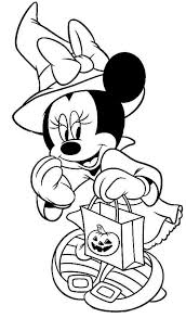 Disney Halloween Minnie Coloring Sheet For Kids Picture 7 550x938