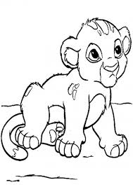 Baby Lion Cub Coloring Pages For Kids Printable 139274