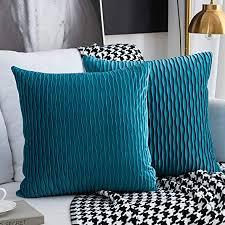 kissenbezüge set mit 2 dekorativen quadratischen rechteckigen kissenbezüge samt moderne kissenbezüge für bett sofa stuhl schlafzimmer