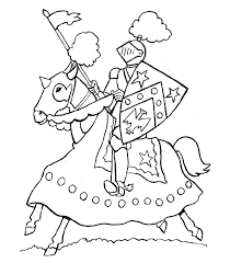 Knight Coloring Pages For Kids