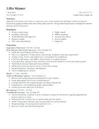 Electrician Resume Samples Sample Warehouse Elegant Resumes Electrical