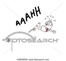 Clip Art Of The Big Plunge From Diving Board K32648258