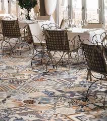 multicolour patchwork porcelain tiles these encaustic effect