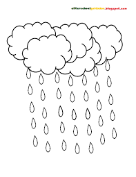Rain Drop Coloring Page Pages New Raindrop