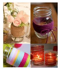 que faire avec des pots de yaourt en verre 21 idées de déco de mariage avec des pots en verre de récup mon
