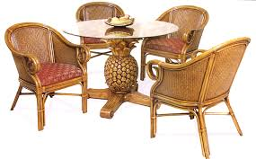 Rattan Table Base Wicker Dining And Chairs