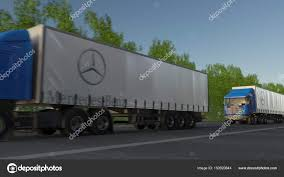 Freight Semi Trucks With Mercedes-Benz Logo Driving Along Forest ... Truck Parking Gateway Storage Center Northern Virginia Parts For Heavy Duty Trucks Trailers Machinery Export Worldwide Mercedes Electric Truck Could Rival Tesla Business Insider Semi Trucks Crashing New Benz N Bus 1998 Mercedesbenz 12500 Tbilisi Diesel Semitrailer Tamiya 114 Arocs 3363 6x4 Classic Space Semitruck Kit Mercedesbenz To Compete With In Electric Segment Here Comes A Selfdriving 18wheeler Huffpost Free Racing Pictures From European Championship Lastkraftwagen Division Represents At Retro Jokioinen Finland April 23 2017 Steel Grey