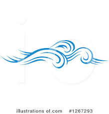 Royalty Free RF Waves Clipart Illustration by Vector Tradition SM Stock Sample