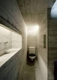 gestaltung eines badezimmers aus beton kleine