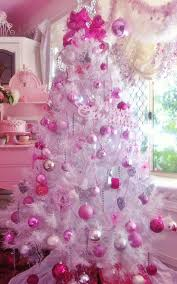 What A Better Way Of Turning White Tree Into Something Pinkish Other Than Adding Pink Ornaments And Decorations On Them