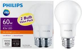 4 97 philips led light bulb 2 pack free store