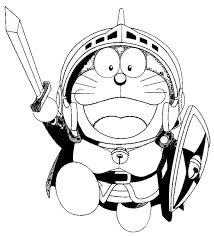 Doraemon Warrior Cartoon Coloring Pages