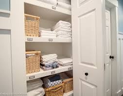 How To Completely Organize Your Linen Closet | The Happy Housie Bathroom Kitchen Cabinets Fniture Sale Small 20 Amazing Closet Design Ideas Trendecora 40 Open Organization Inspira Spaces 22 Storage Wall Solutions And Shelves Cute Organize Home Decoration The Hidden Heights Height Organizer Shelf Depot Linen Organizers How To Completely Your Happy Housie To Towel Kscraftshack Bathroom Closet Organization Clean Easy Bluegrrygal Curtain Designs Hgtv Organized Anyone Can Have Kelley Nan