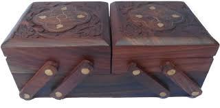 Handicraft Slider Of Sheesham Wood Brass Made Jewellery Vanity Box