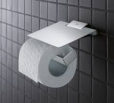 grohe selection cube wc papierhalter mit deckel chrom
