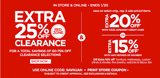 JCPenney Enjoy An Extra  f Red Zone Clearance An