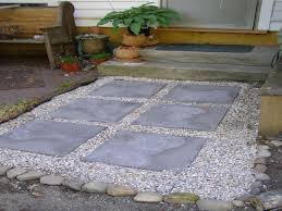 Pea Gravel Patio Images by Pea Gravel Patio With Stepping Stones Eposed Concrete Eeccbc