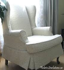 Armless Chair Slipcover Sewing Pattern by Furniture Awesome Decorative Wingback Chair Slipcover With Smooth