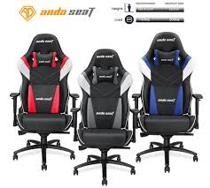 Anda Seat Assassin King Series Big And Tall Gaming Chair, High-Back Desk  And Office Chair 400LB With Lumbar Support And Headrest (Black/White/Grey)  ... Killabee 8212 Black Gaming Chair Furmax High Back Office Racing Ergonomic Swivel Computer Executive Leather Desk With Footrest Bucket Seat And Lumbar Corsair Cf9010007 T2 Road Warrior White Chair Corsair Warriorblack By Order The 10 Best Chairs Of 2019 Road Warrior Blackwhite Blackred X Comfort Air Red Gaming Star Trek Edition Hero