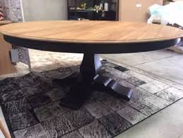 Hamptons Solid Timber Pedestal 6ft Round Dining Table 180cm